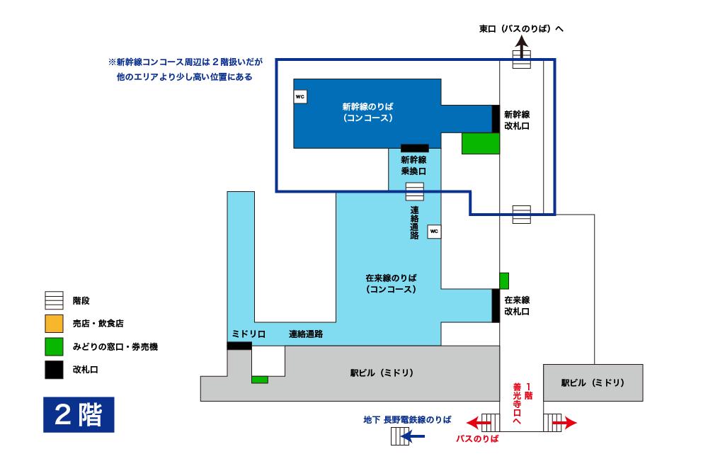 長野駅構内図