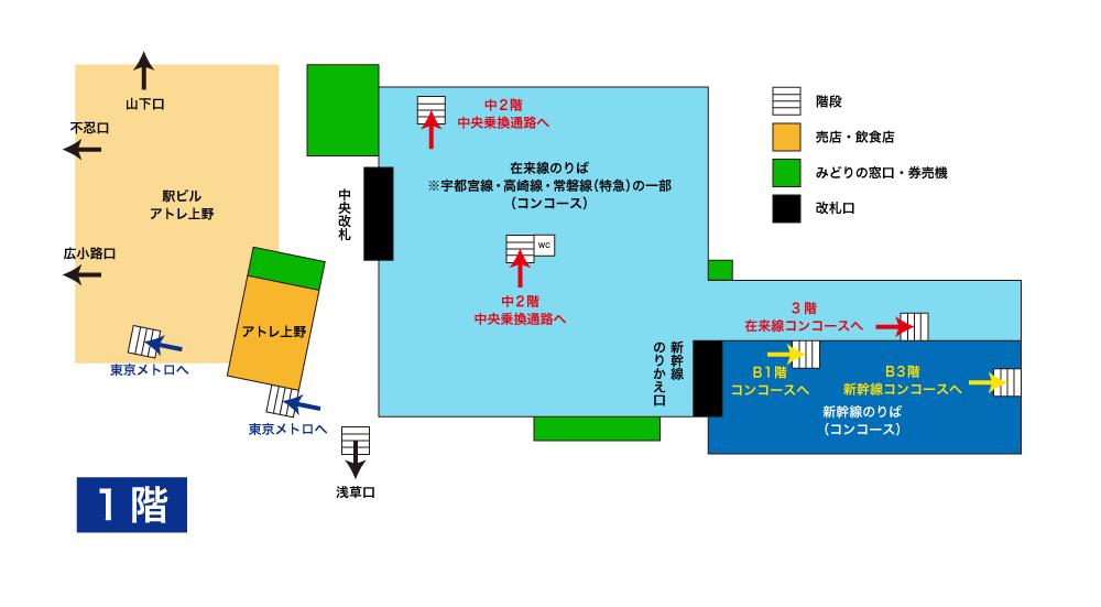上野駅構内図